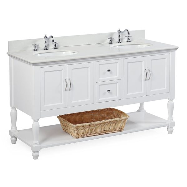 Beverly 60-inch Double Sink Bathroom Vanity Domestic Divas Coupons
