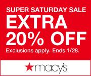 Get 20% off Super Saturday With Code At Macys.com! Valid