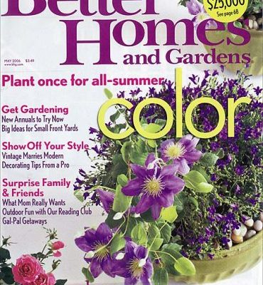 GetBetter Homes & Gardens Magazine For $5.00 A Year!