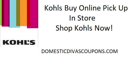 Kohls Buy Online Pick Up In Store Domestic Divas Coupons