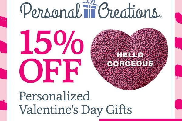 Personal Creations 15% Off Personalized Valentine's Day Gifts Domestic Divas Coupons