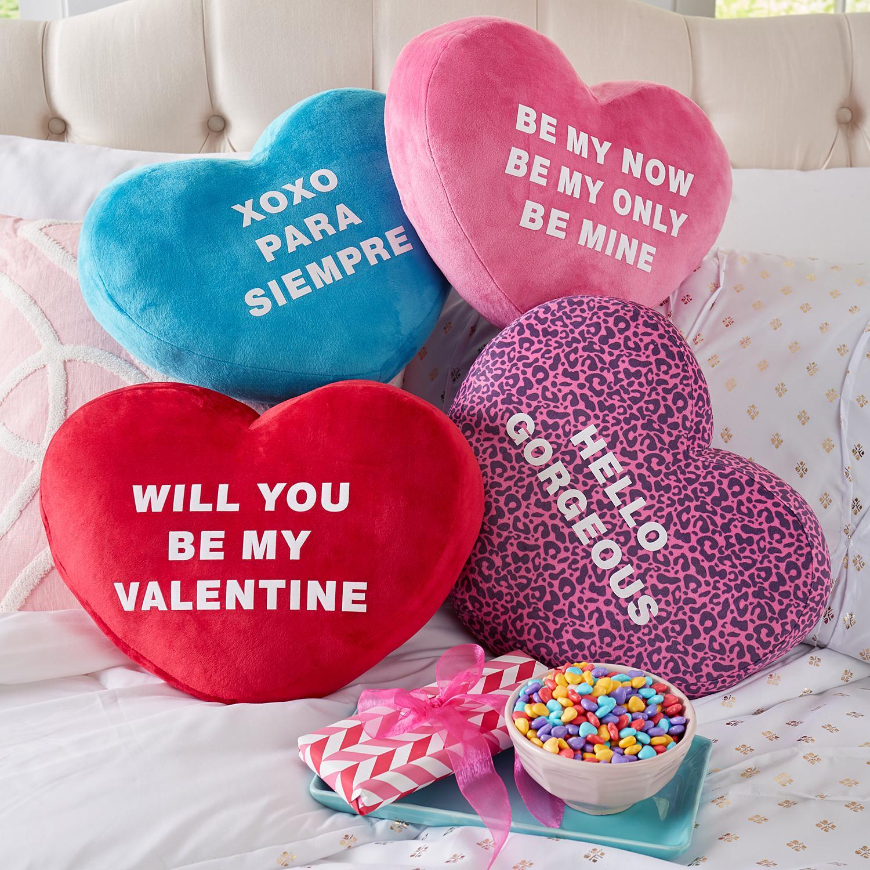 Personalized Plush Heart & Candies Pillow | Domestic Divas ...