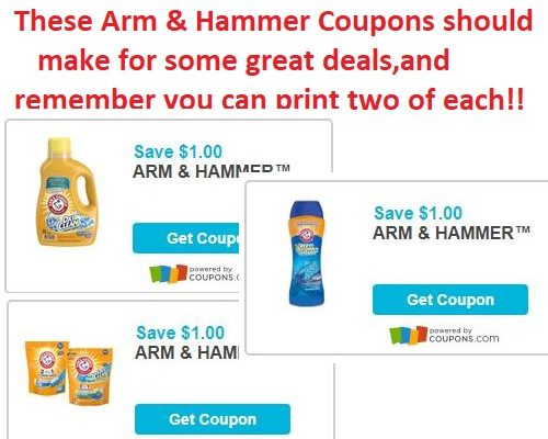 3 NEW Arm & Hammer Coupons!!