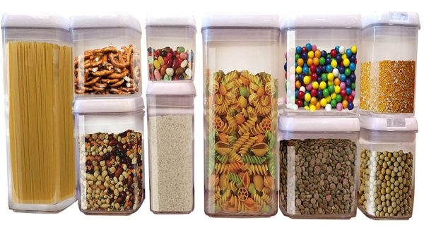 Airtight Food Storage Set- 10 PC-Keeps Food Fresh And Organized