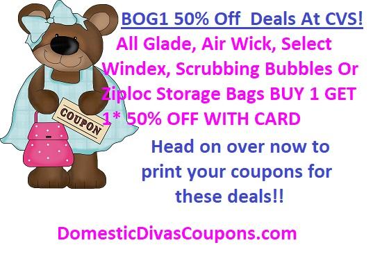 BOG1 50% Off Deals At CVS! DomesticDivasCoupons