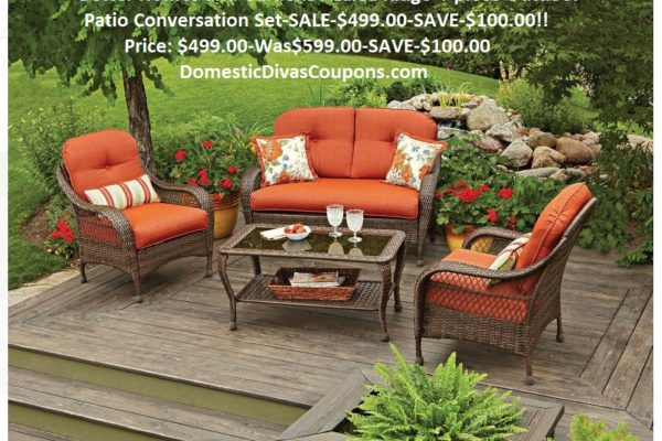 Better Homes and Gardens Azalea Ridge 4-piece Outdoor Patio Conversation Set-SALE-$499.00 DomesticDivasCoupons