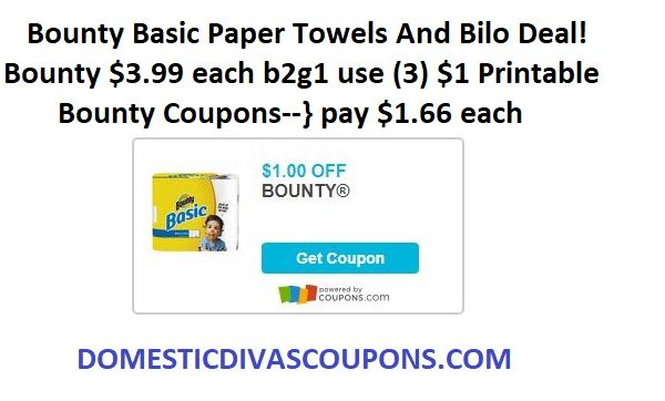 Bounty Basic Paper Towels And Bilo Deal!
