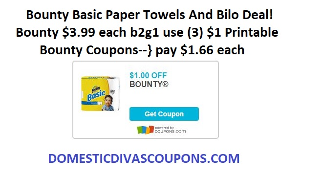 photograph relating to Bounty Printable Coupons identified as Bounty Straightforward Paper Towels And Bilo Bundle! Residence Divas