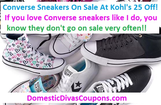 Converse Sneakers On Sale At Kohl's-25% Off!!