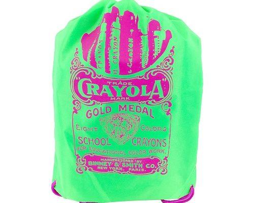 Crayola Neon Green Drawstring Bag