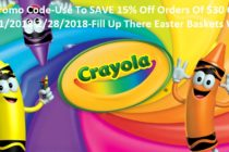 Crayola Promo Code-Use To SAVE 15% Off Orders Of $30 Or More!