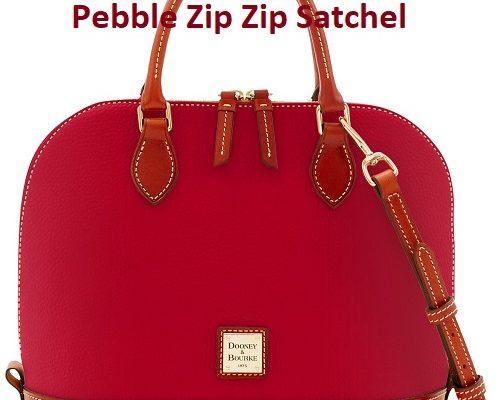 Get This Bag For $118-SAVE-$80!-Dooney & Bourke Pebble Zip Zip Satchel