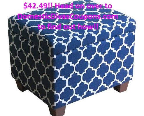 Get this CUTE Ottoman For Only$42.49!! DomesticDivasCoupons