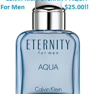 Macy's-DEAL OF THE DAY-Calvin Klein ETERNITY AQUA For Men-$25! DometicDivasCoupons