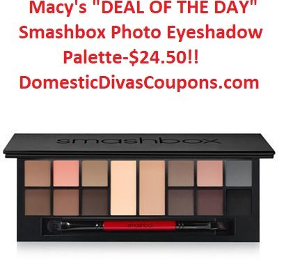 Macy's DEAL OF THE DAY-Smashbox Photo Eyeshadow Palette-$24.50! DomesticDivasCoupons