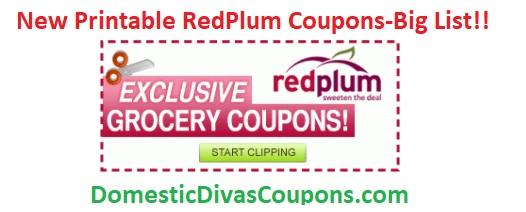 New Printable RedPlum Coupons-Big List!!