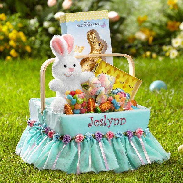 PersonalizedFancy Flowers Easter Basket!