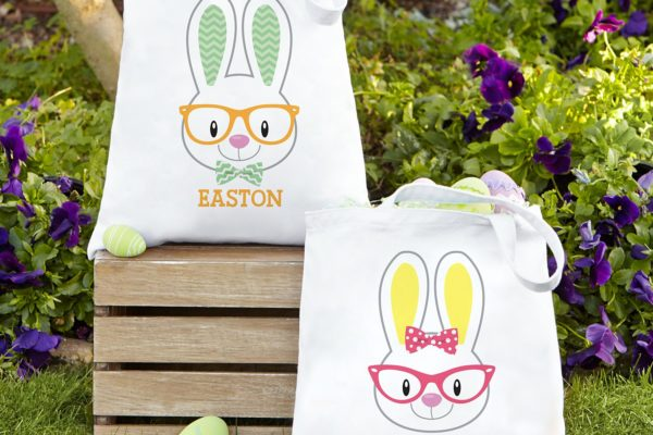 PersonalizedSmart Bunny Easter Tote Bag!
