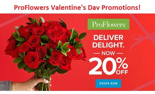 ProFlowers Valentine's Day Promotions!