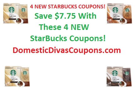 Save $7.75 With These 4 NEW StarBucks Coupons!! DomesticDivasCoupons