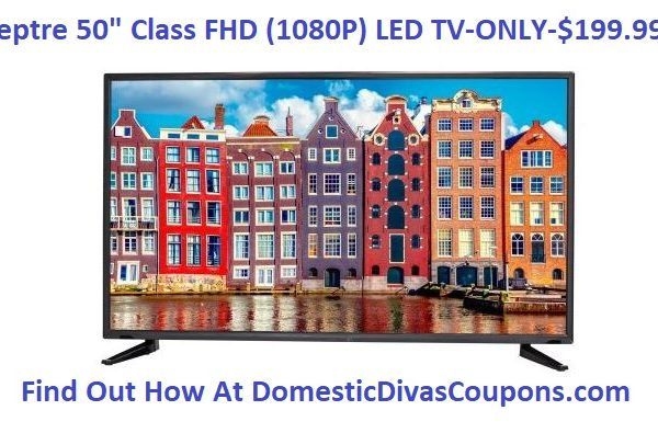 Sceptre 50 Class FHD 1080P LED TV-ONLY-$199.99!! DomesticDivasCoupons