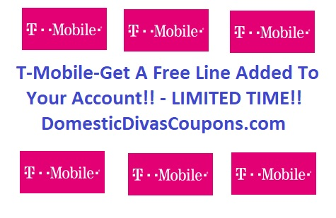 T-Mobile-Get A Free Line Added To Your Account!! DomesticDivasCoupons