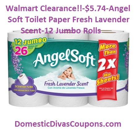 Walmart Clearance!!~$5.74-Angel Soft Toilet Paper Fresh Lavender ...