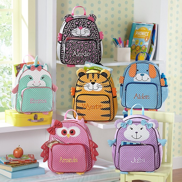 Valentine Owls Kids Backpack Personalized