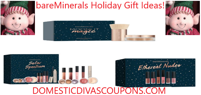 image regarding Bare Minerals Printable Coupon named bareMinerals Vacation Present Programs! Home Divas Discount codes