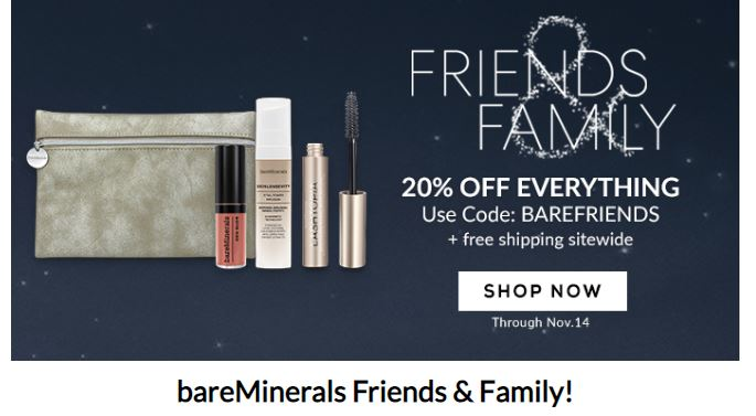 image relating to Bare Minerals Printable Coupon called bareMinerals Family vacation Present Plans! Home Divas Discount codes